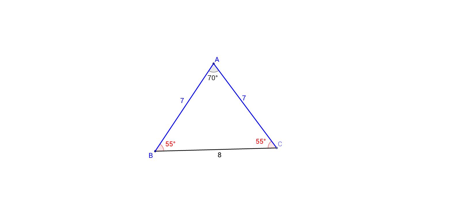 how to make an isosceles triangle on geogebra