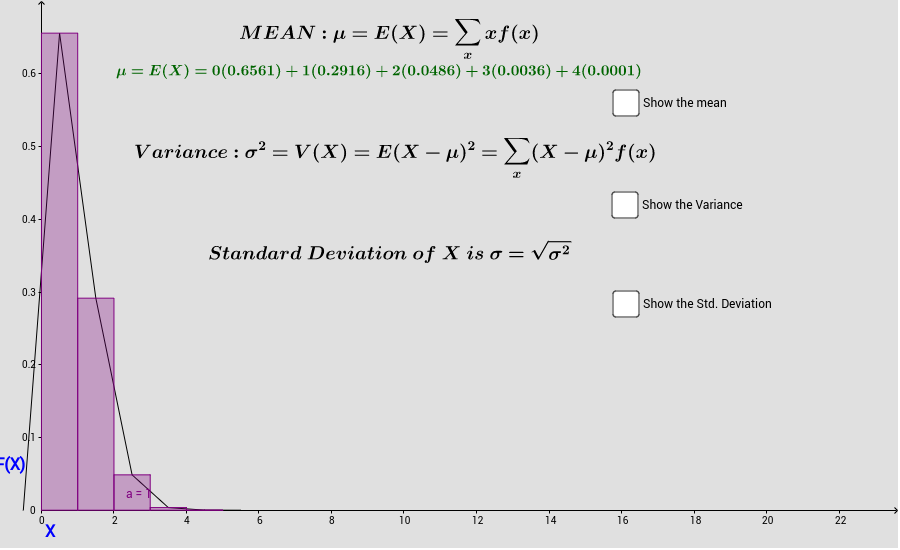 Geogebra Worksheets Portfolio GeoGebraBook – Variance and Standard Deviation Worksheet