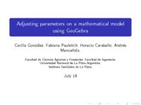 Presentación GeoGebra Gathering