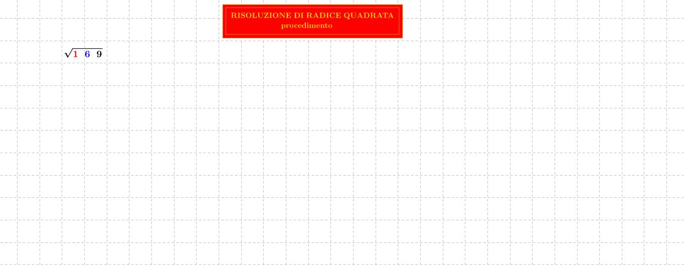 radice quadrata - square root