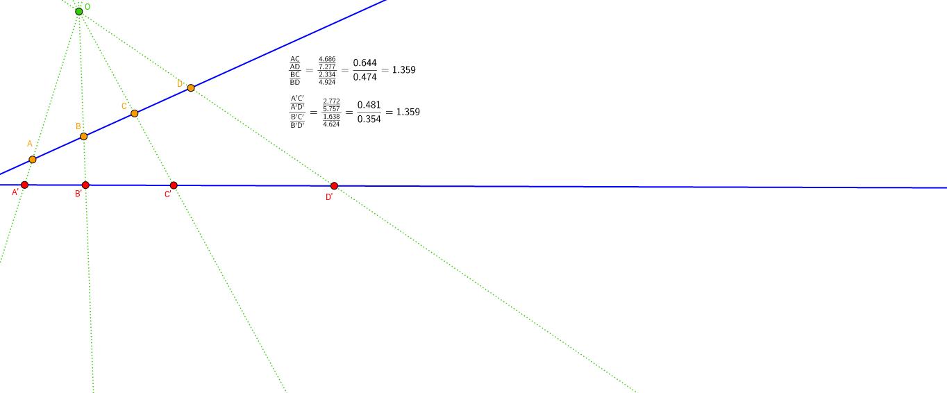 La raó doble es conserva per projeccions
