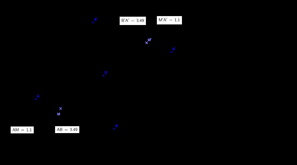 Symétrique d'un segment par rapport à un point