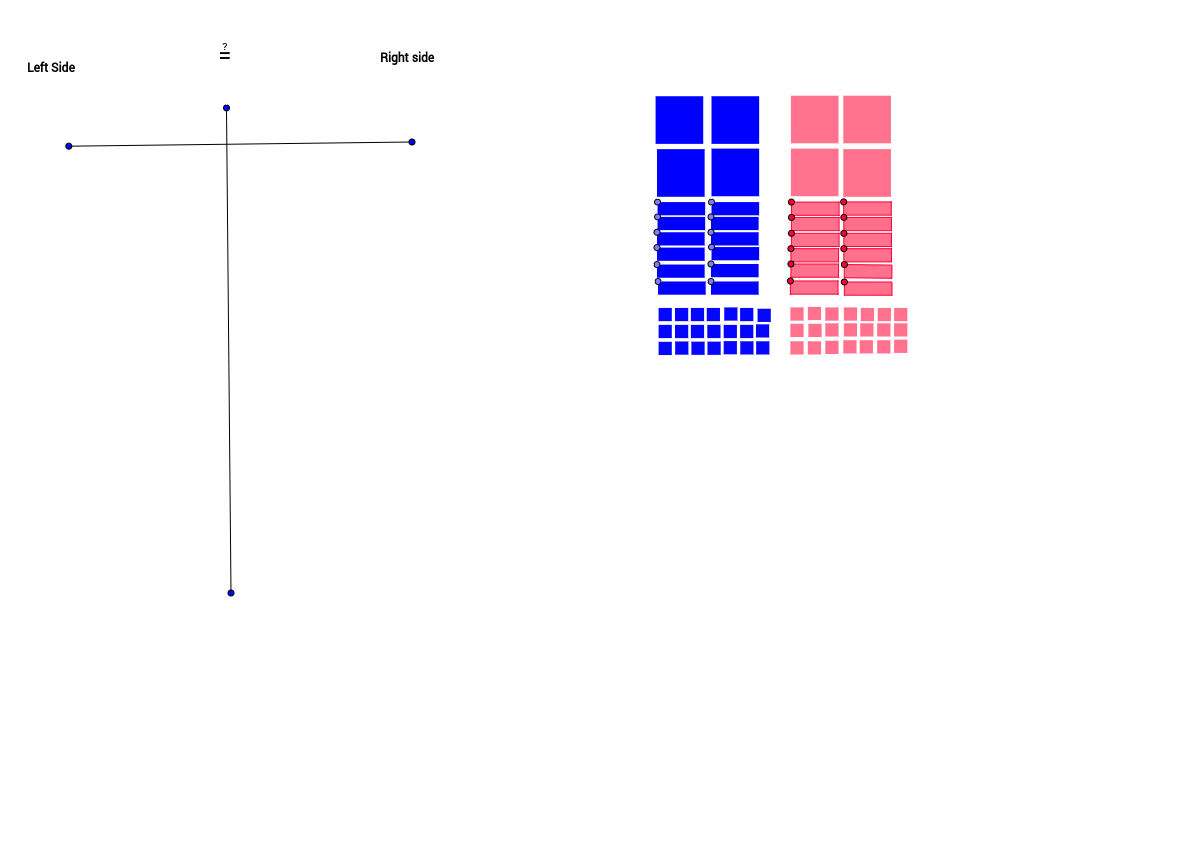 Algebra Tiles with equation Mat