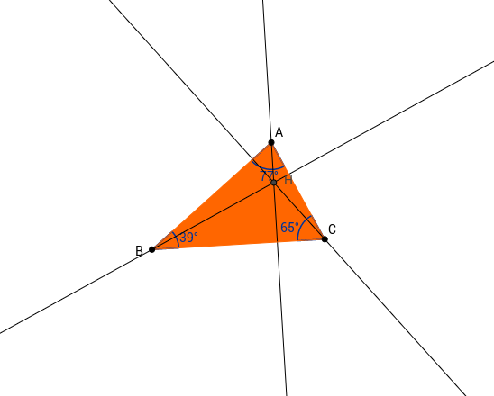 Las Alturas de un triángulo