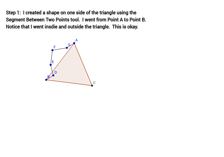 Tessellation from Triangle (Step 1)