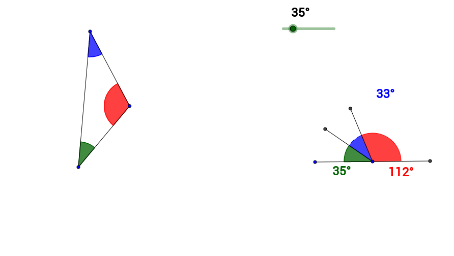 Sum of the Measures of the Angles in a Triangle