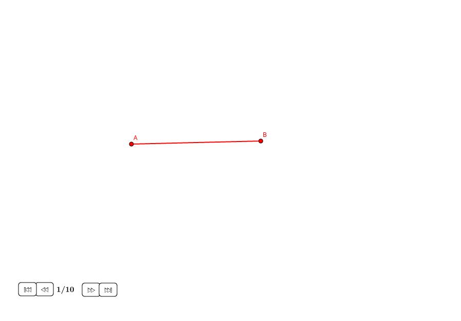 Dividir un segmento con la sección áurea (III)