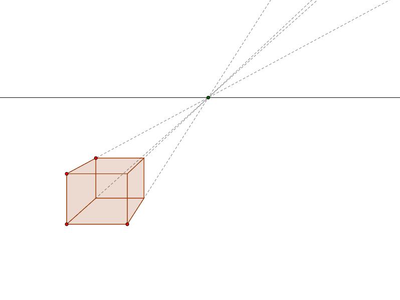 Perspektivtegning - Kasse med perspektiv