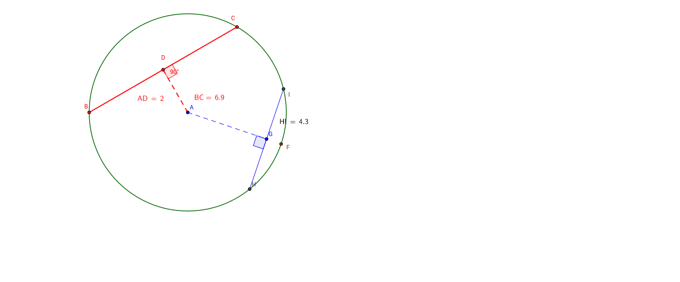 Distance Properties in Circles : Chords
