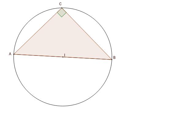 Triangle inscrit dans un cercle de diamètre un de ses côtés
