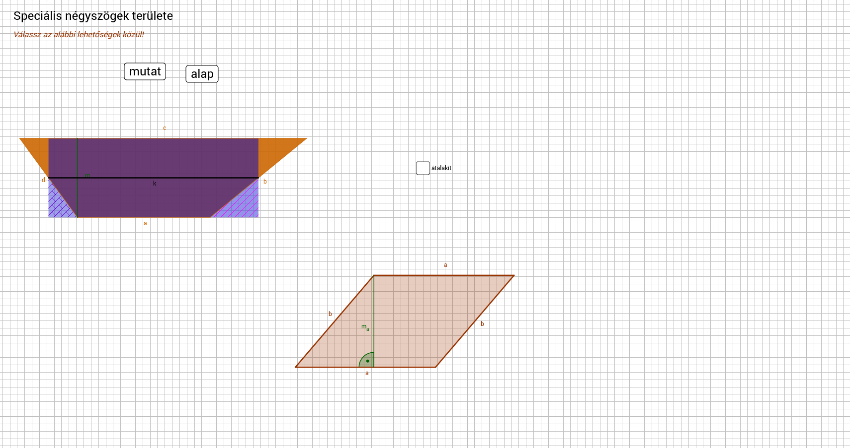 spec négyszög ter