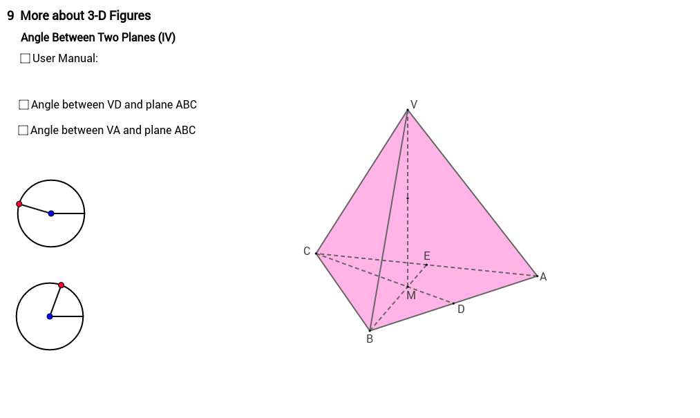 Angle between two planes 4