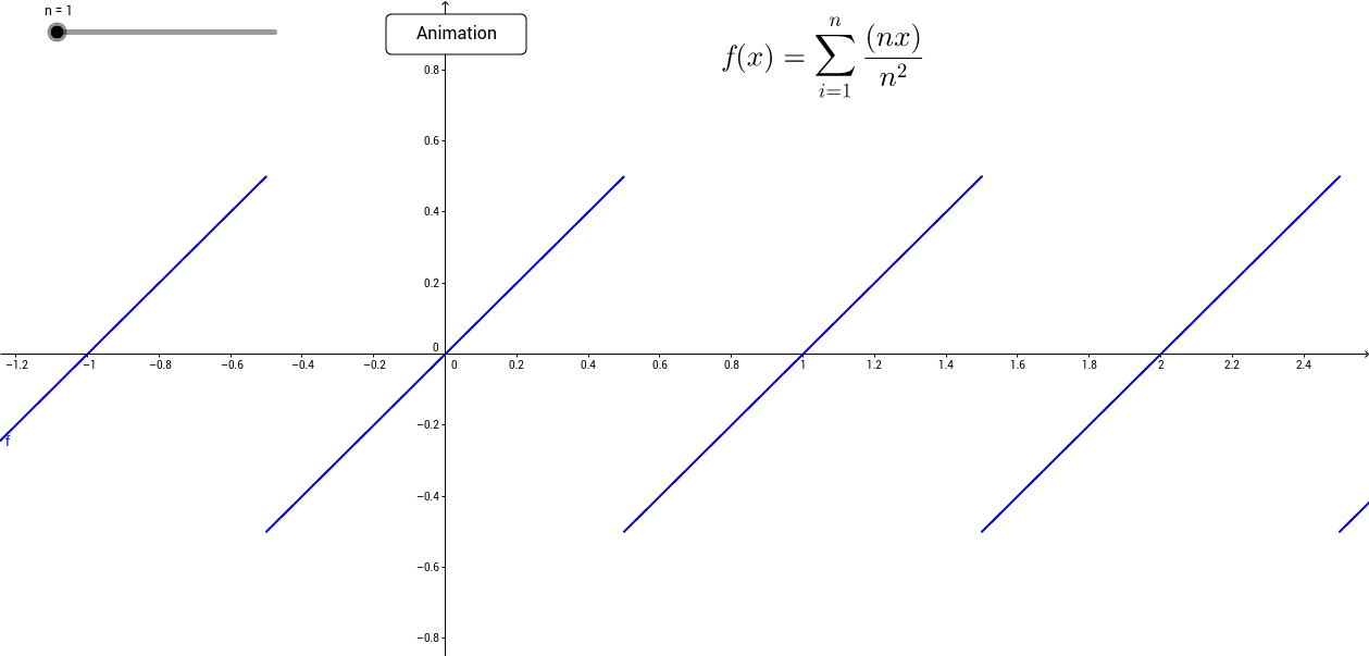 Riemann's function with infinite points of discontinuity