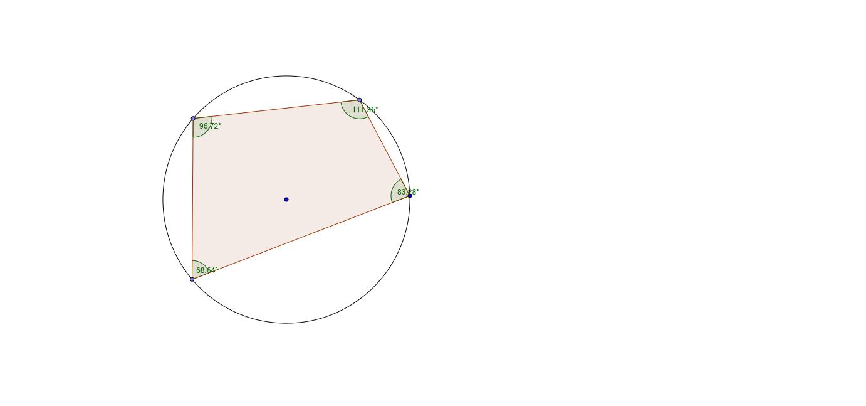 Circle theorems cyclic quadrilateral investigation geogebra geogebra applet ccuart Choice Image