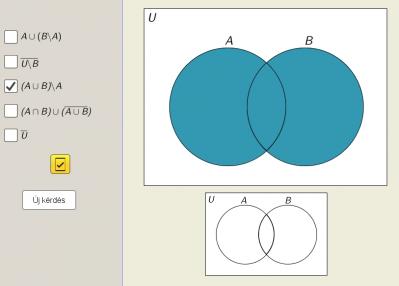 Halmazműveletek Venn-diagram segítségével 2.