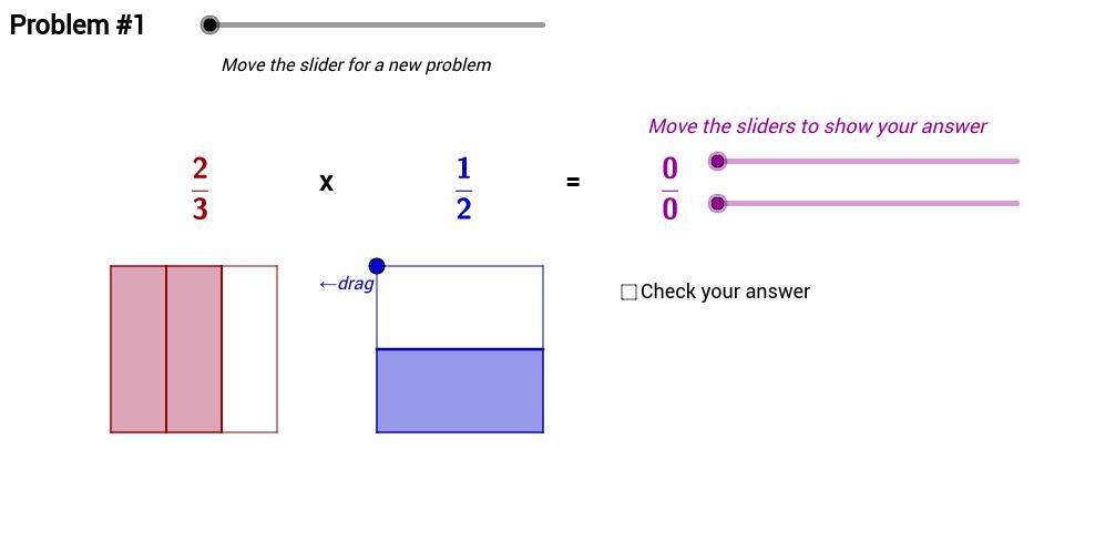 Multiplying Proper Fractions – Area Model Problems (2)