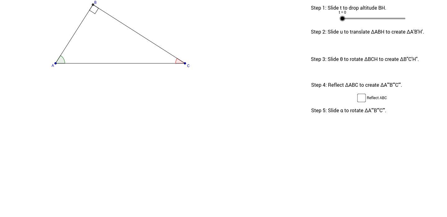 Copy of Altitude on Hypotenuse Similarity Visualization