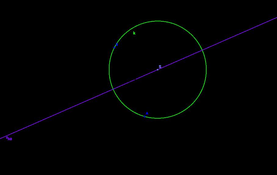 Osa úsečky - středy kružnic