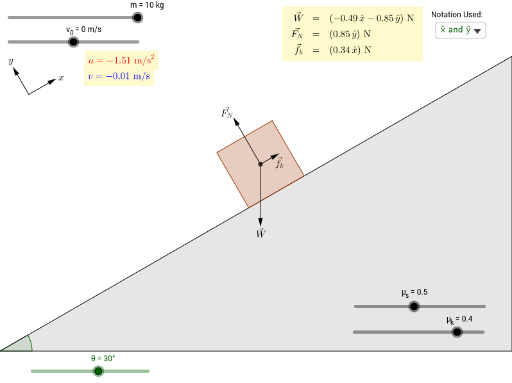Block Sliding Down Ramp With Friction