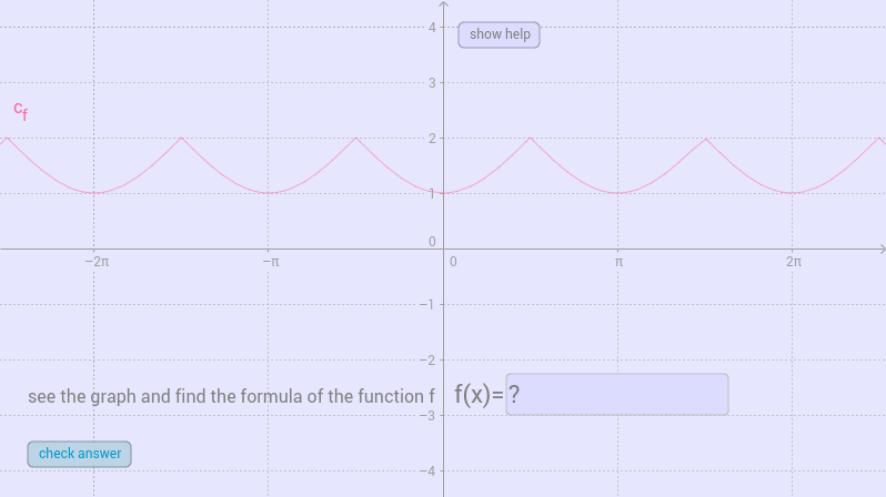 find the function (sine curves)