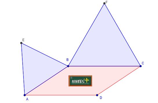 Paralelogramo  y triángulos exteriores