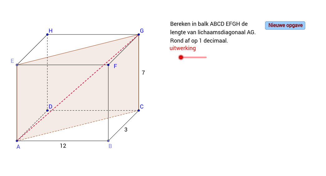 Pythagoras. Lengte lichaamsdiagonaal