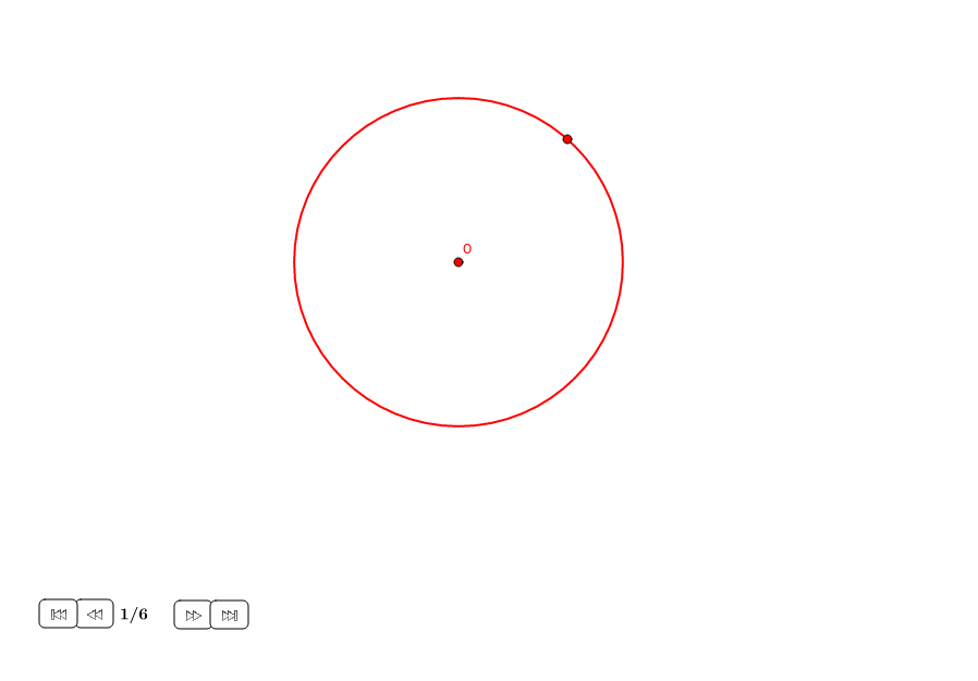 Triángulo equilátero en un círculo