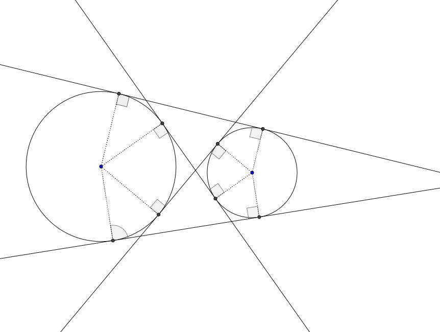 2つの円の共通接線