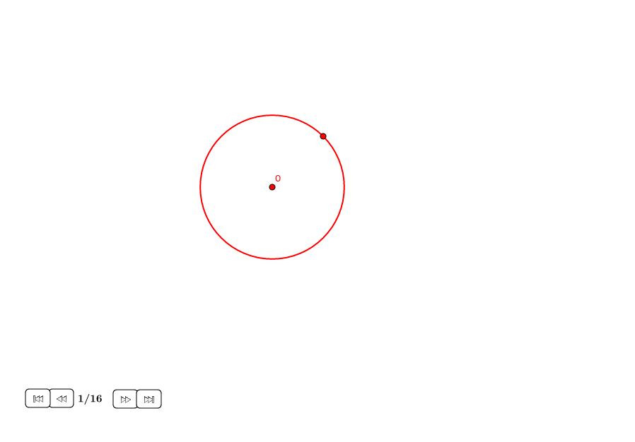 Hexágono regular alrededor de un círculo