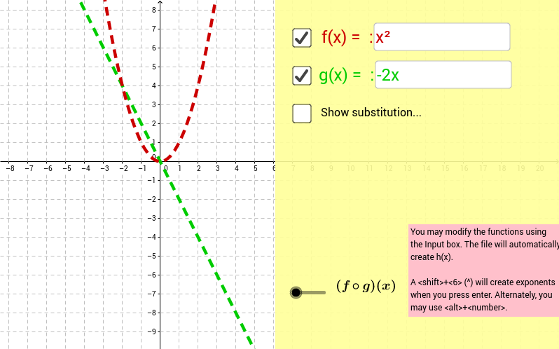 Composition of Functions GeoGebra – Composition of Functions Worksheet