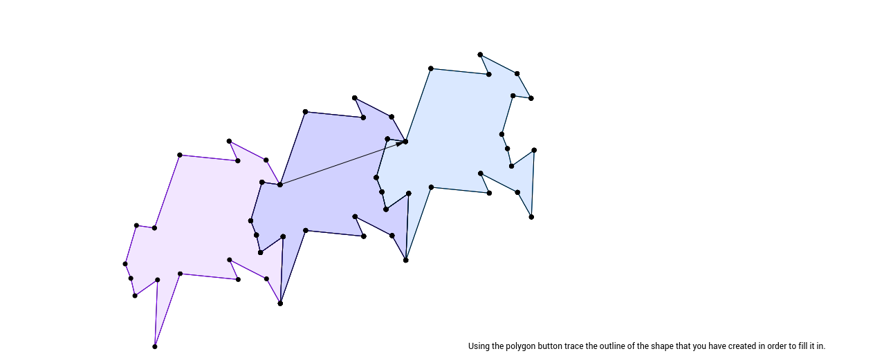 Step 7 in creating a tessellation