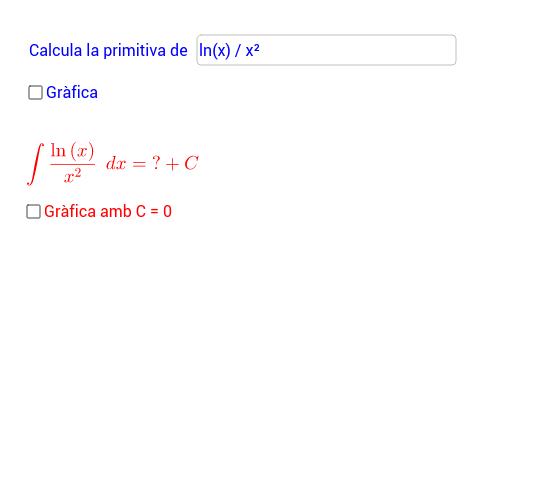 Càlcul de primitives