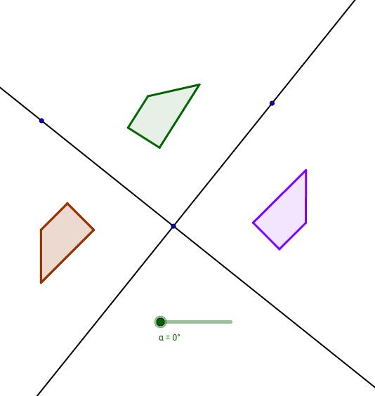 Composición Simetrias ejes no paralelos