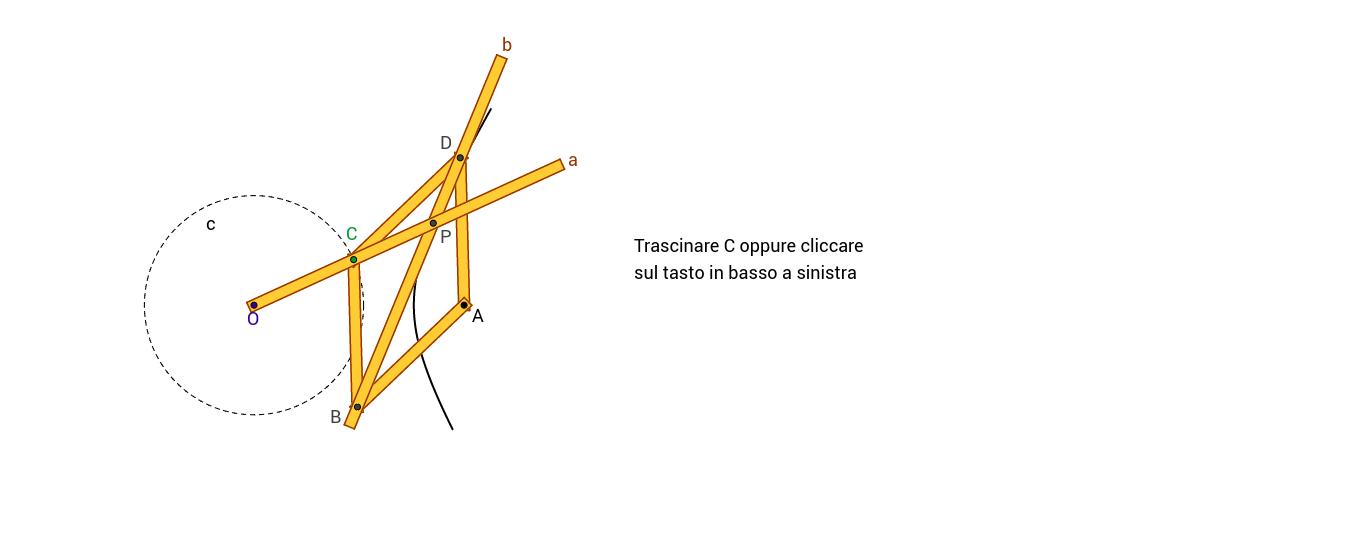 Iperbolografo con rombo articolato