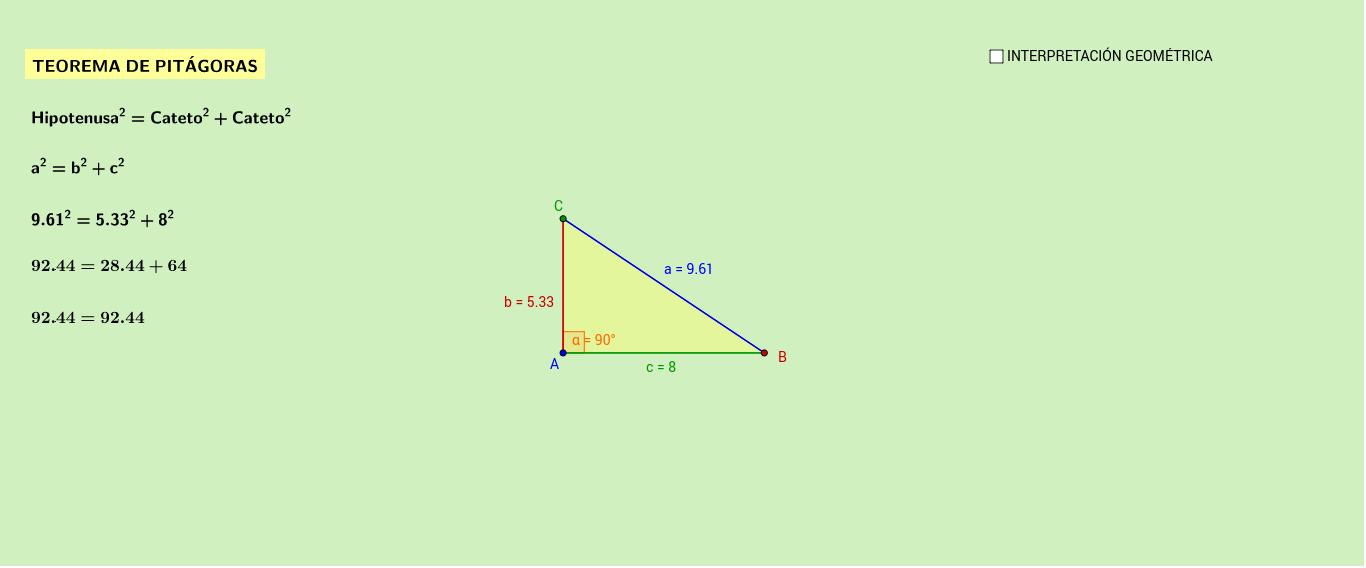 triangulo rectangulo con geogebra descargar