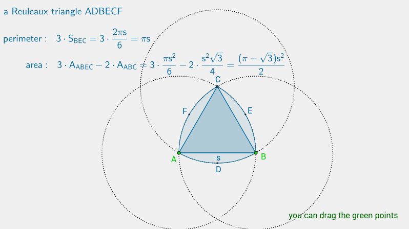 a Reuleaux triangle