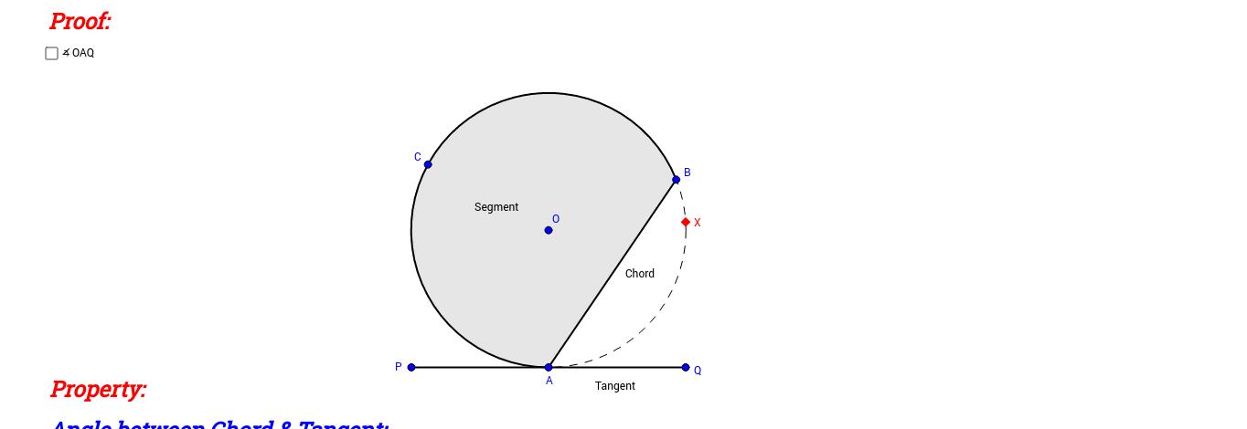 Alternate Segment Theorem (Proof 2)
