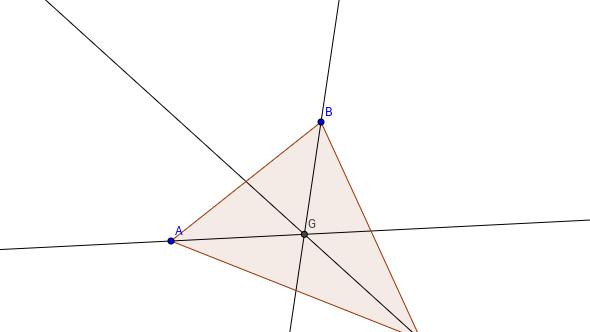 Baricentro de un triángulo
