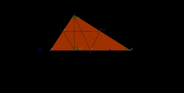 Правоъгълен триъгълник с трапец