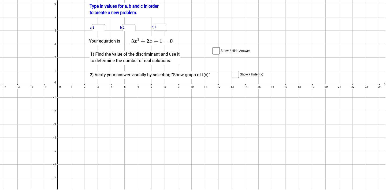 Quadratic Equations: Discriminant Coloring Activity by Algebra Accents
