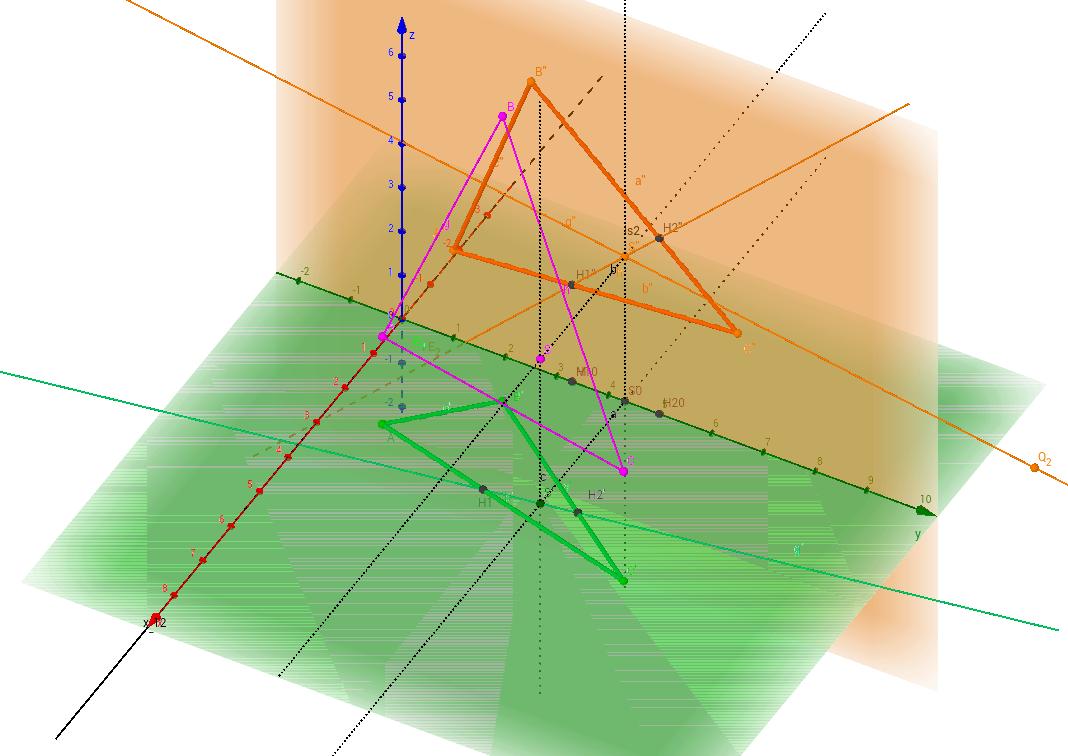 Schnittpunkt Gerade Ebene - Darstellende Geometrie
