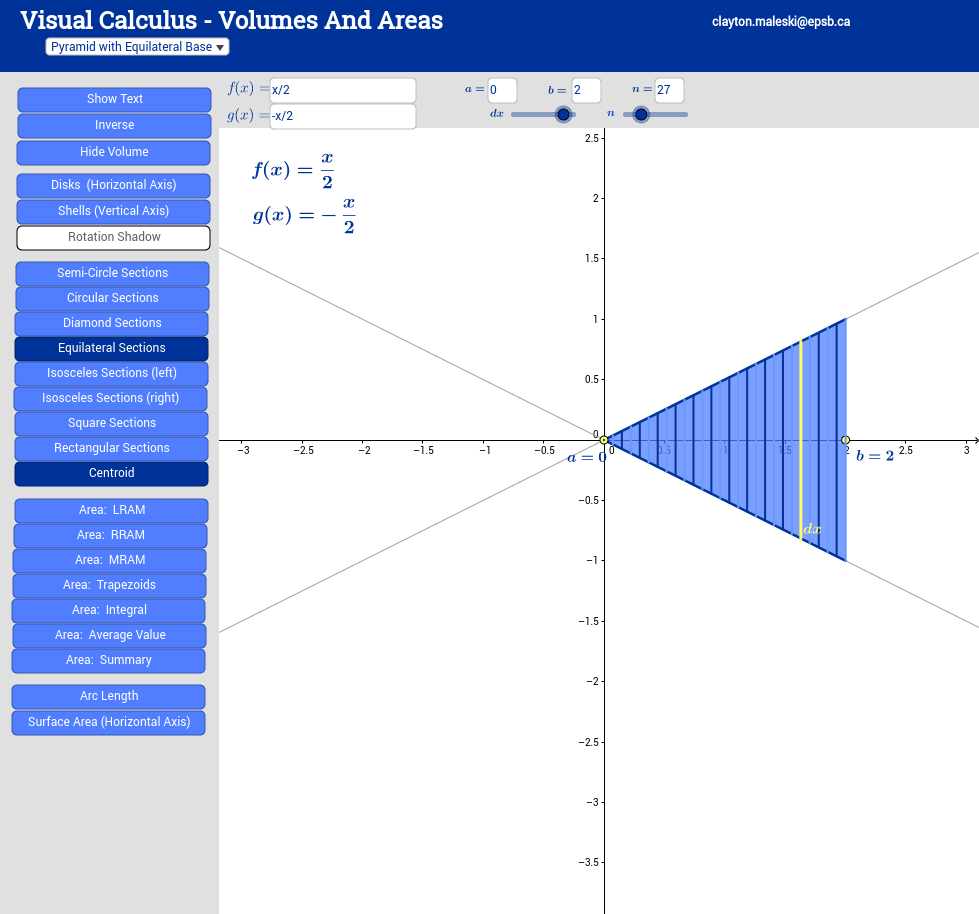 Visual calculus volumes and areas geogebra view worksheet robcynllc Choice Image