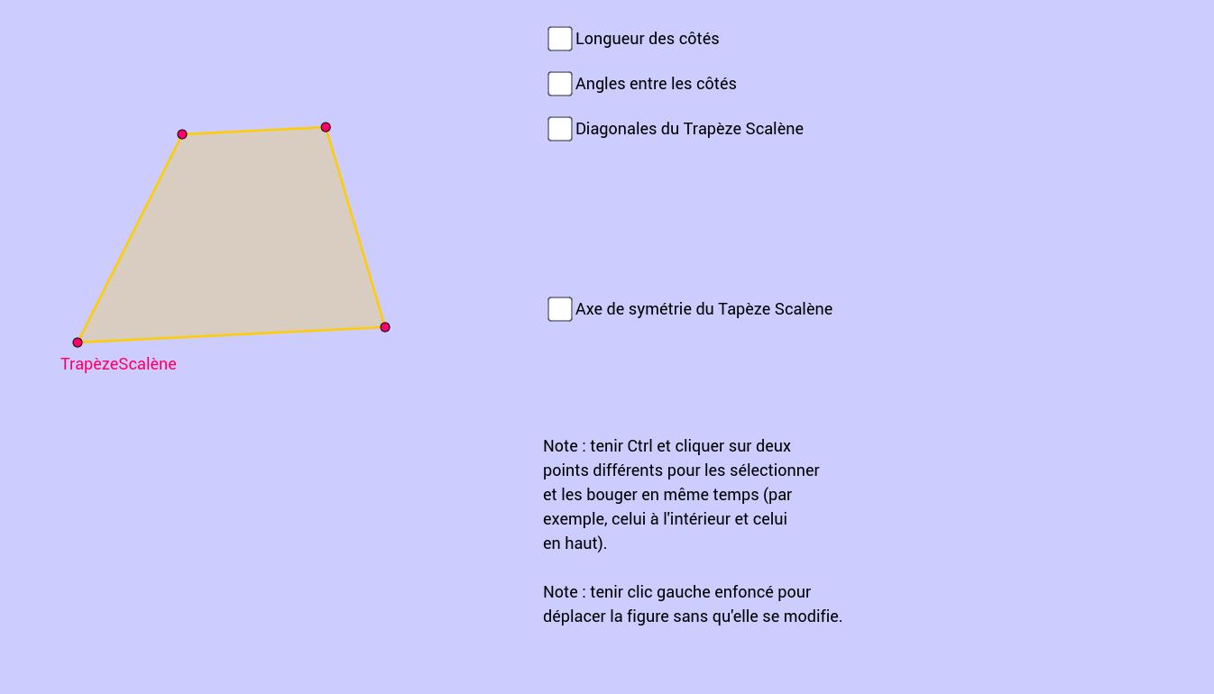 Propriétés trapèze scalène