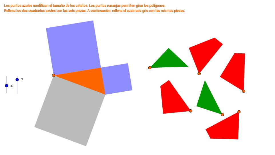 Teorema de Pitágoras: puzle para comprobarlo