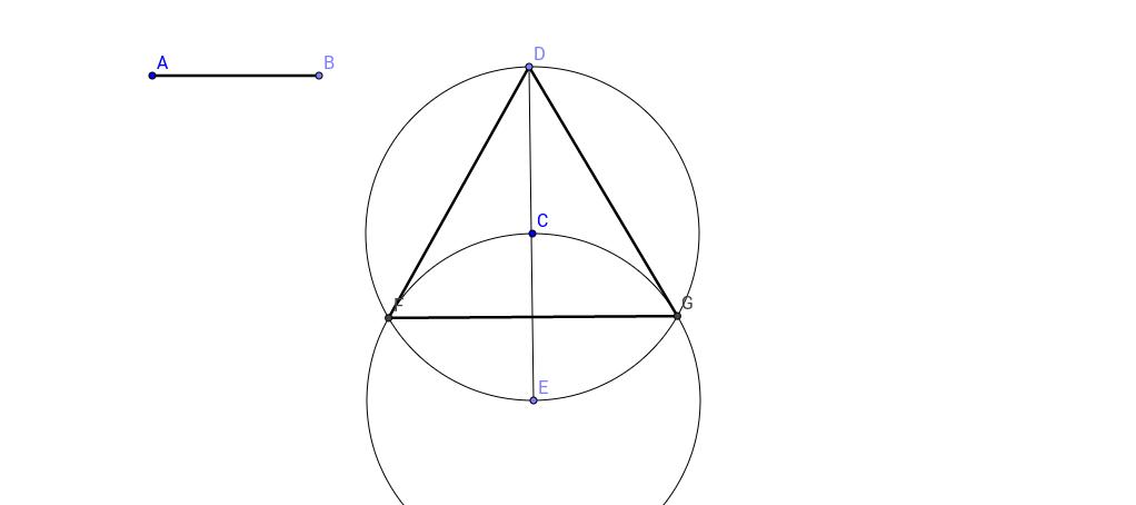 Construcció d'un triangle equilàter