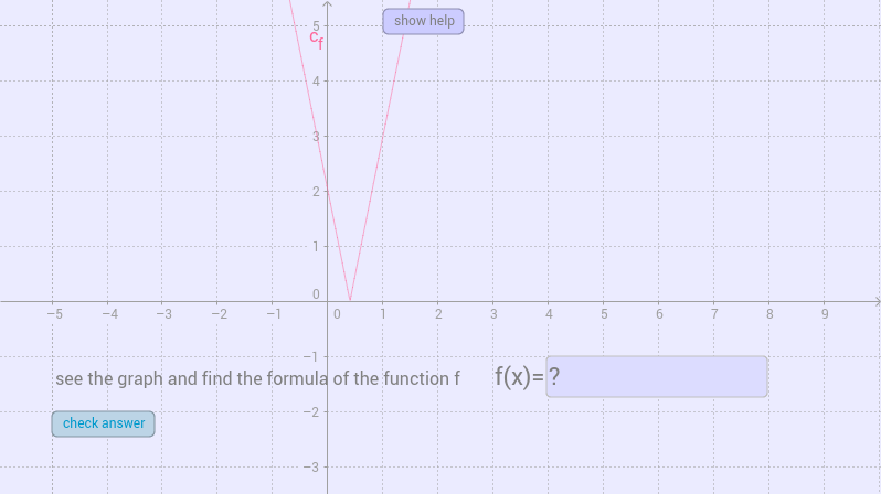 find the function