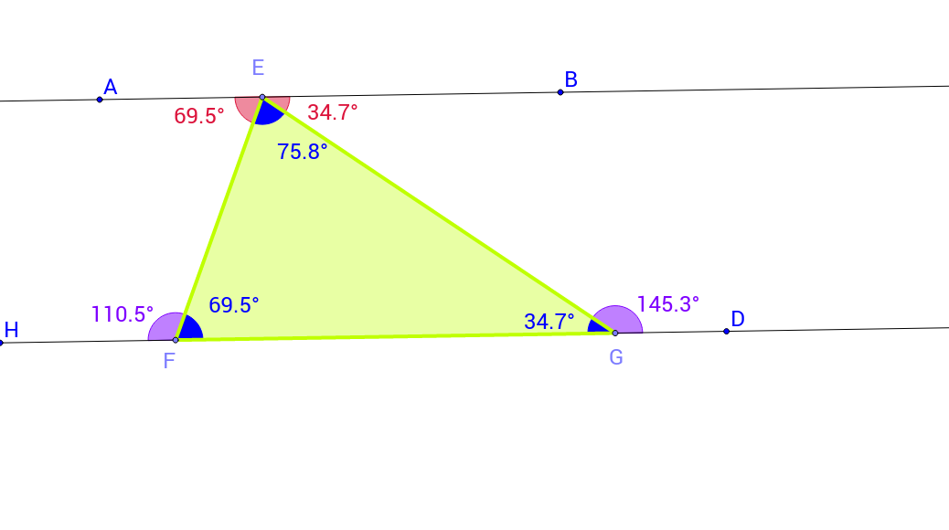 Angles of a Triangle:  Conjectures and Investigation
