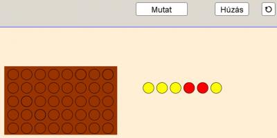 Binomiális eloszlás modellezés visszatevéses húzásokkal