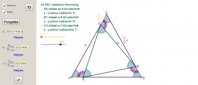 Szabályos háromszögben szabályos háromszög 3.