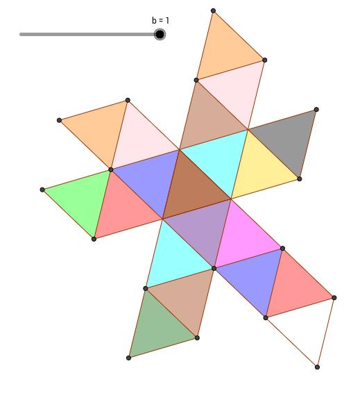 Icosaèdre régulier (Développement et Mouvements)